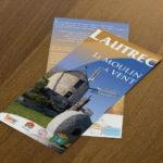 brochure recto verso graphprint imprimeur saix lautrec